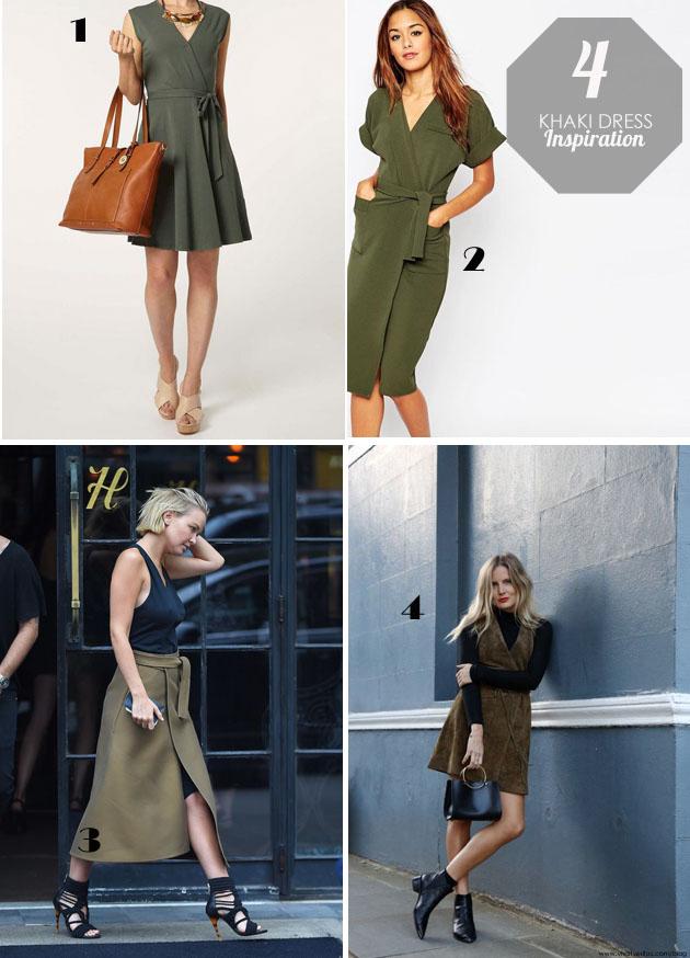 khaki dress inspiration board by vivat veritas blog