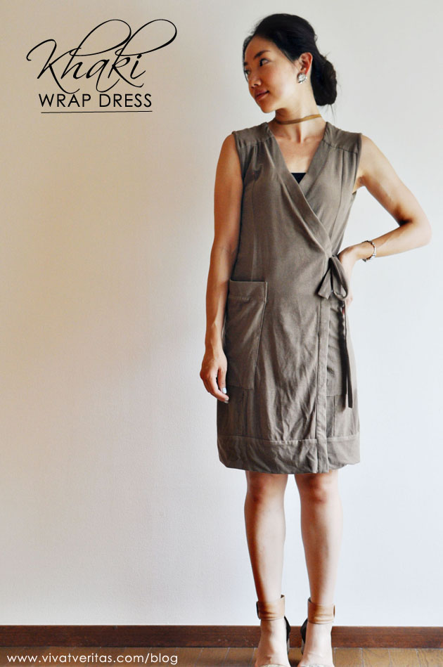 khaki wrap dress by vivat veritas blog