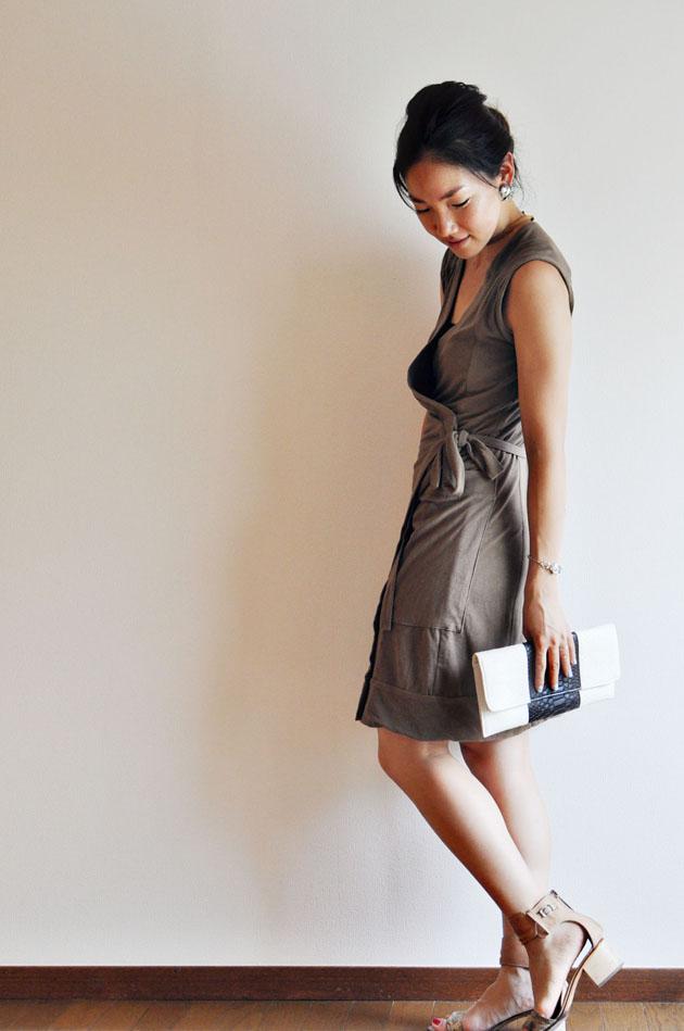 khaki wrap dress by vivat veritas1 (2)
