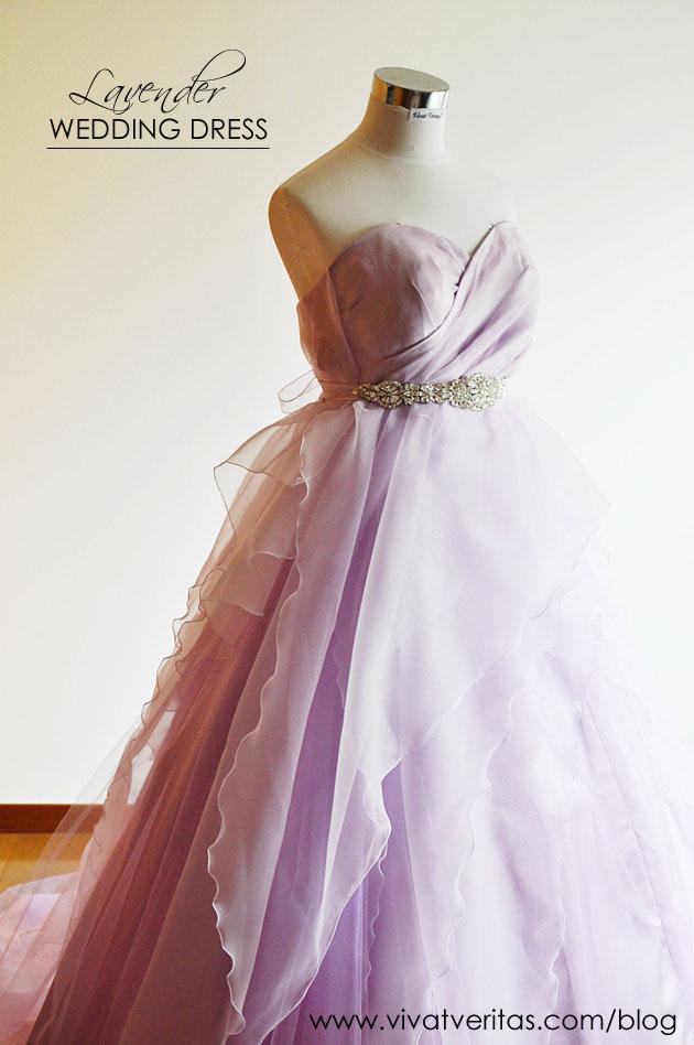 lavender wedding dress by vivat veritas