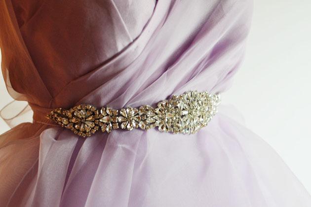 sparkly bridal belt