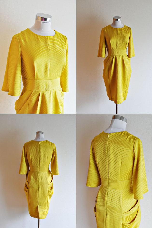 yellow kimono fabric dress by vivat veritas