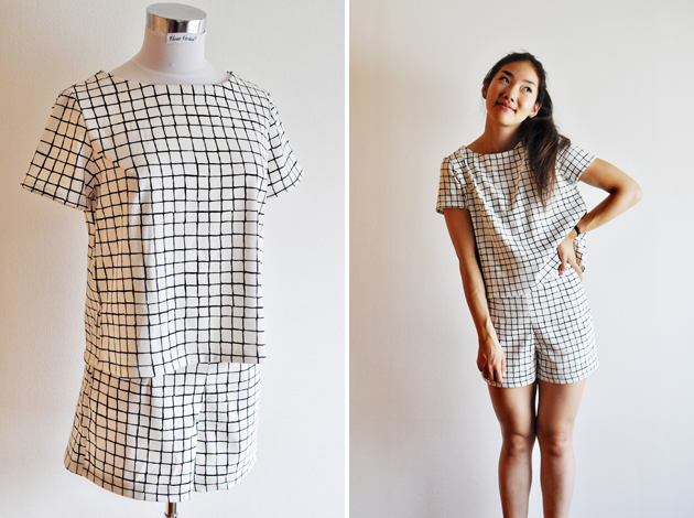 black-and-white-plaid-top-and-shorts-set-by-vivat-veritas
