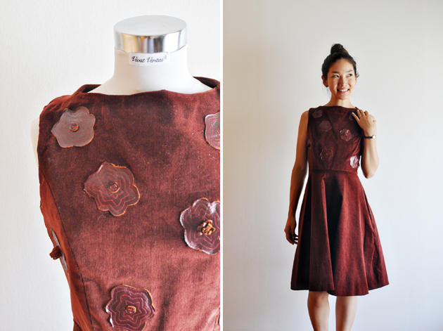 wine-red-dress-with-leather-applique-by-vivat-veritas