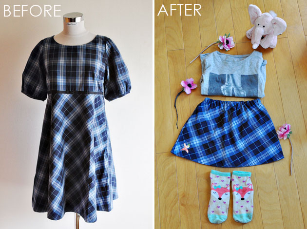 before-and-after-of-plaid-dress-refashion