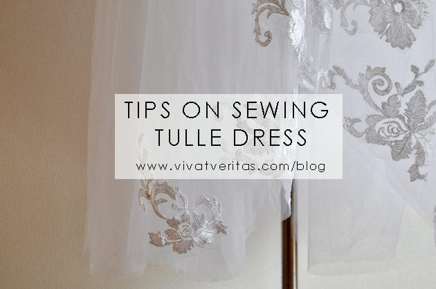 tips on sewing tulle wedding dress