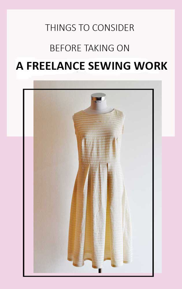 Things to Consider Before Taking on a Freelance Sewing Work