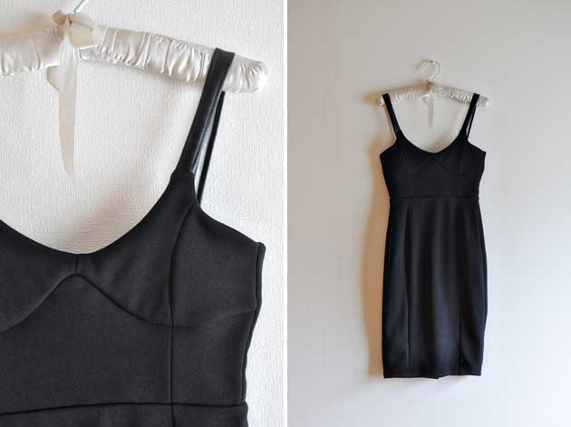 handmade black i line dress