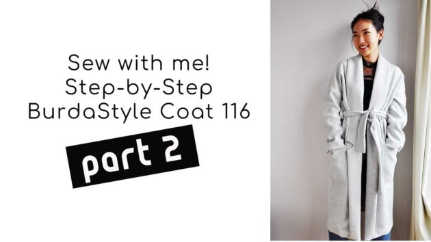 burdastyle sewing tutorial coat 116