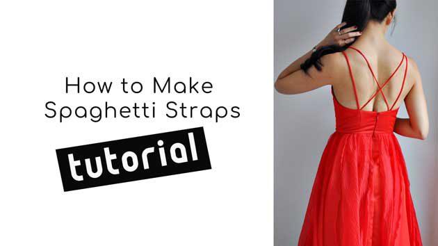 youtube video how to make spaghetti straps