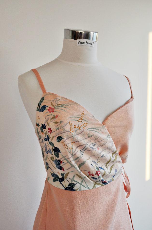 kimono upcycled dress