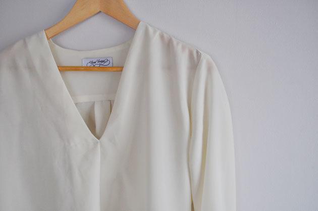white drape shirt handmade