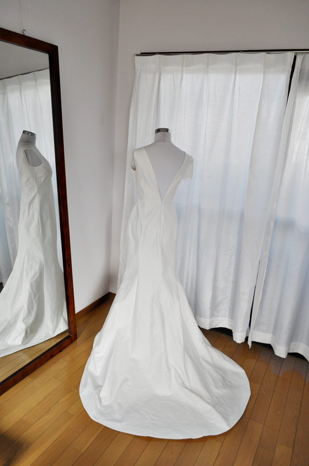 mermaid wedding dress muslin