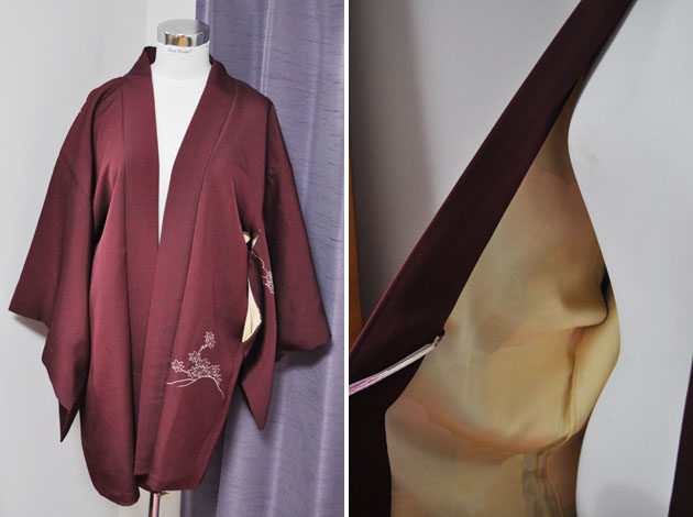 azuki color kimono jacket
