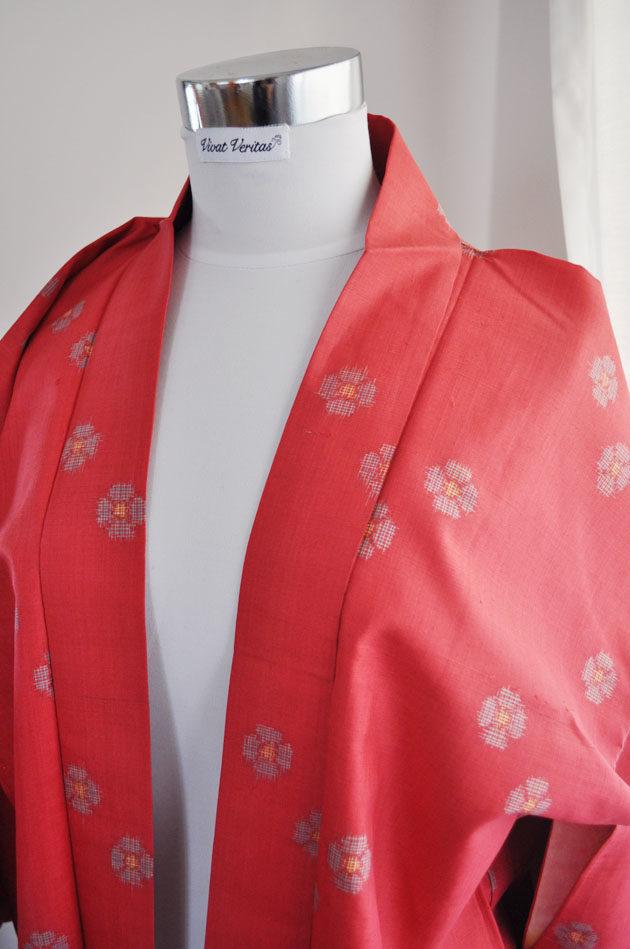 cotton kimono jacket fuschia pink